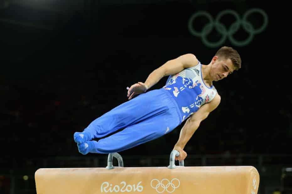 Max Whitlock on his way to winning gold on the pommel horse in 2016.
