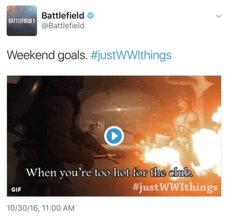 An image from the Battlefield 1 social media campaign.