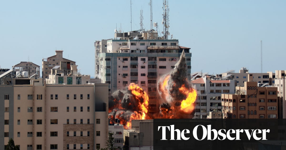Among ruins of bombed city towers, Gazans still reel from shock and pain