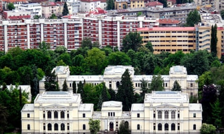 The National Museum of Bosnia and Herzegovina. The country has lost 19% of its population in the past two decades.