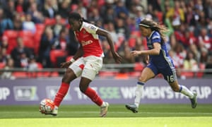 Asisat Oshoala shoots after going past Ana Borges again.