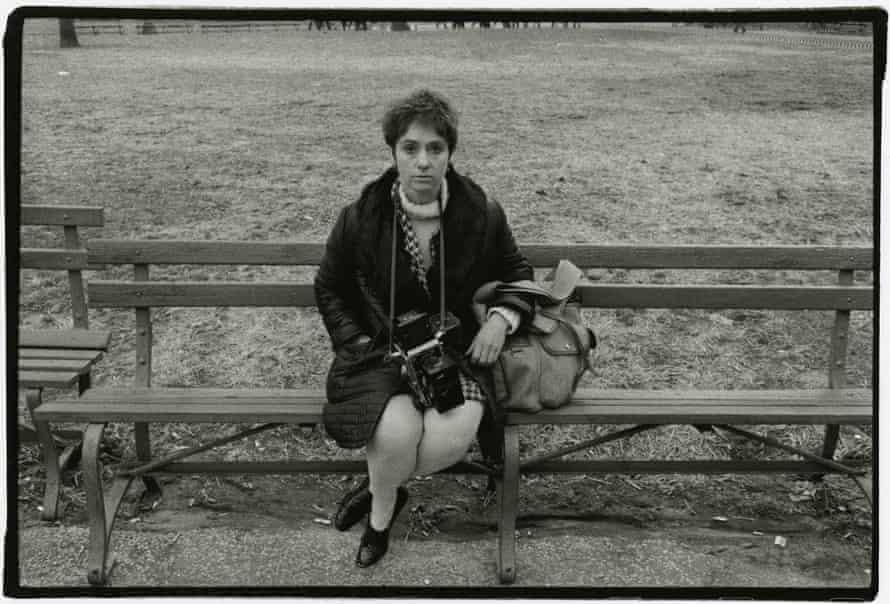 Diane Arbus in Washington Square Park, NYC, 1967.
