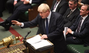 Boris Johnson speaking during a debate in the House of Commons