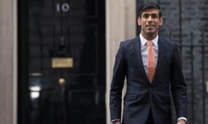 The new chancellor, Rishi Sunak, leaving 10 Downing Street, February 2020