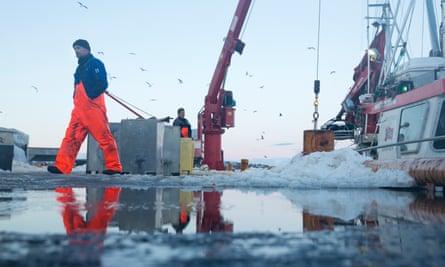 Fishermen on the Norwegian island of Sommarøy