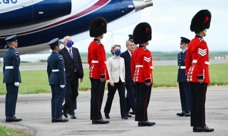 President of the European Commission Ursula von der Leyen arrives for the G7 Summit, Cornwall