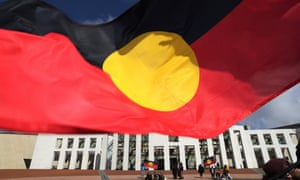 The Aboriginal flag over Parliament House