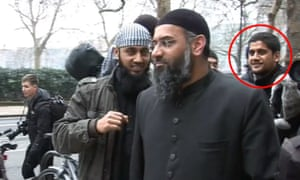 Abu Rumaysah (ringed right), in 2010 with Anjem Choudray (nearest camera) in London