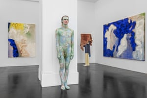 More works from Donna Huanca's show Surrogate Painteen.