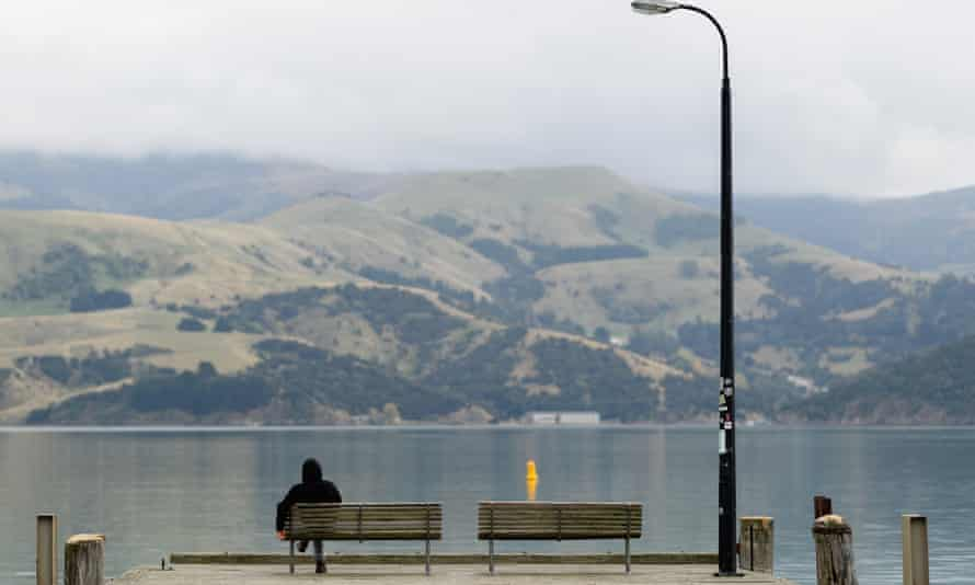 The main wharf at Akaroa, southeast of Christchurch, New Zealand. Many New Zealanders unable to get home and separated from family say they have suffered a significant toll on their mental health.