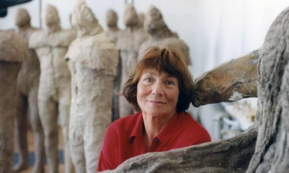 Magdalena Abakanowicz's evocative textile representations of the human figure often had stunted limbs or lacked heads