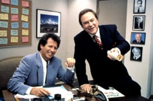 Garry Shandling and Rip Torn in the 90s comedy hit The Larry Sanders Show.