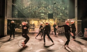 Robert Jones's design takes its inspiration from Andy Warhol's Factory... Sweet Charity at the Donmar Warehouse.