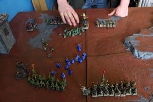 A game of Warhammer, a turn based strategy game.
