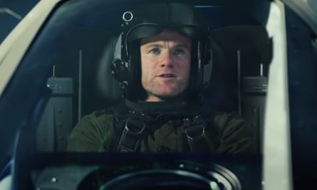 'The war isn't over: we've still got a game to get to' … Wayne Rooney in the movie ad.