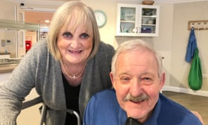 Diana Samuels and her husband, Harvey, on his 82nd birthday in February.
