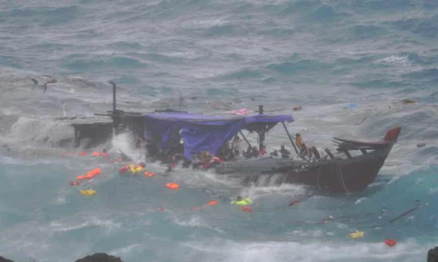 Siev 221 crashes into rocks off the coast of Christmas Island in 2010, leading to the death of 50 asylum seekers.