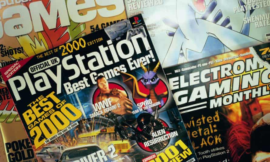 A collection of computer gaming magazines