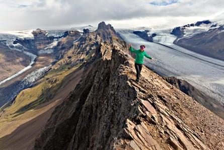 The summit ridge of Skaftafell, South Iceland.