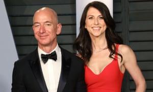 Amazon chief executive Jeff Bezos and former wife MacKenzie.