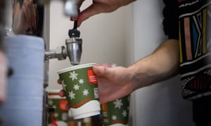 Preparing a cup of coffee for a guest in one of Crisis's night shelters over the Christmas period.