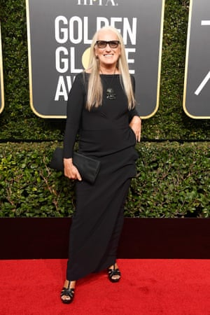 """Jane Campion - hailed by the Guardian as """"one of the world's great film directors"""" - arrives on the red carpet."""