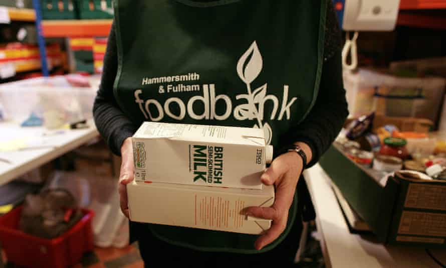 A worker at a food bank.