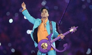 Prince performs at the Super Bowl
