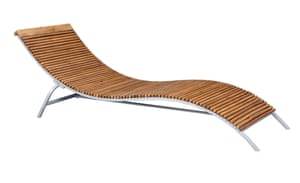 Rolio acacia lounger, £295, habitat.co.uk