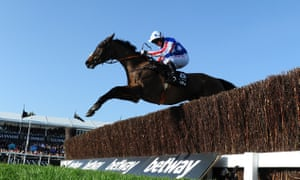 Special Tiara ridden by Noel Fehily jumps the last before going on to win the Queen Mother Champion Chase.