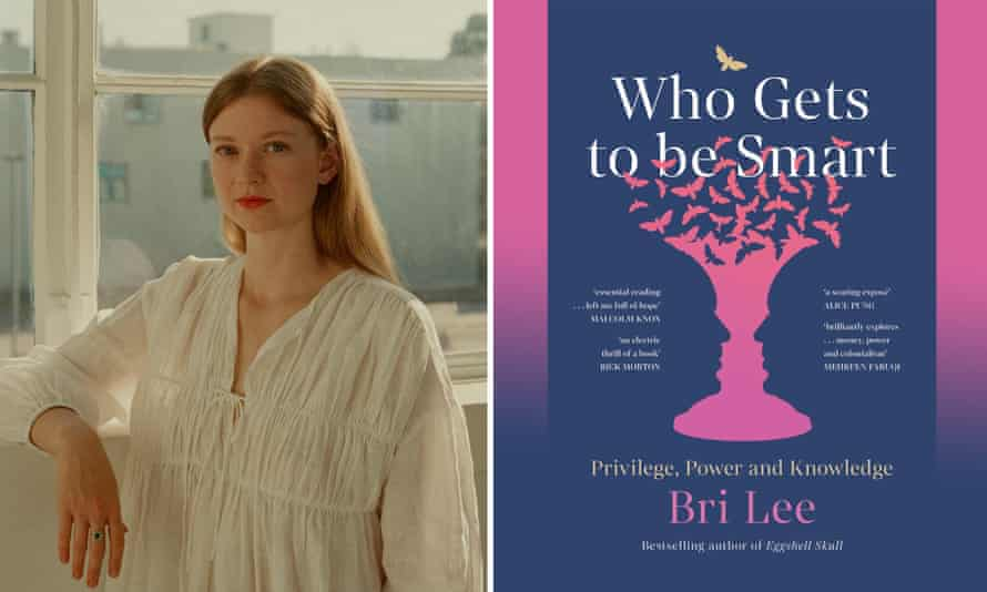 Bri Lee and the cover of her new book, Who Gets To Be Smart.