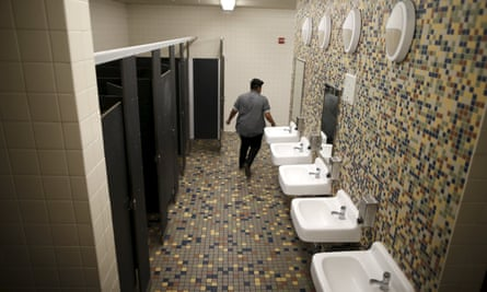 A gender-neutral restroom in a Los Angeles high school.