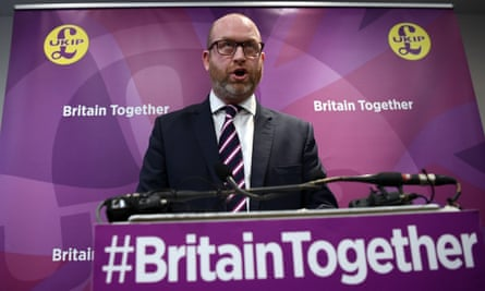 Paul Nuttall speaks at the launch of the Ukip general election manifesto in London.