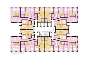 a proposed floorplan for Two Springwell Gardens.
