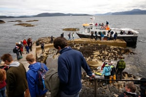 The Island Lass takes passengers across to Fingal's Cave