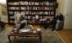 Cardinal George Pell at his residence near the Vatican