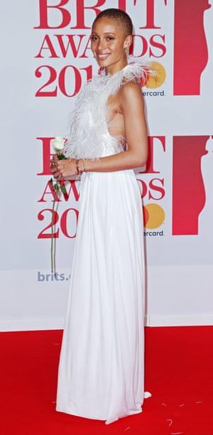 Adwoa Aboah, dressed in white