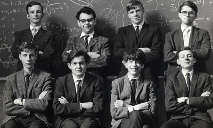 Simon Norton, seated third from left, with other members of the British team for the International Mathematical Olympiad in 1967.