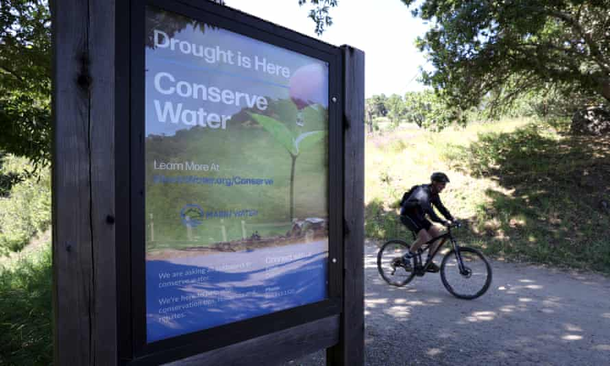 Phoenix Lake in Ross, California. Long-standing fights in California between farmers, cities and environmental groups over the state's scarce water supplies have heated up.