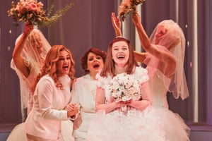 Sheridan Harbridge, Helen Dallimore and Maggie McKenna in Sydney Theatre Company and Global Creatures Production of Muriel's Wedding the Musical © Lisa Tomasetti