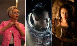 Kristen Stewart in Charlie's Angels, Underwater, and Snow White and the Huntsman.