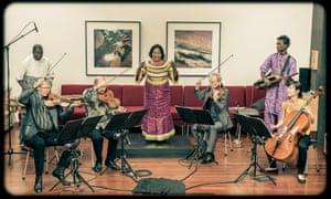 Virtuoso skills … Trio da Kali and Kronos Quartet.