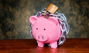 It's a good idea to lock your money away … although perhaps go for a savings account rather than a piggy bank.