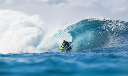 John John Florence of Hawaii competes in the the Billabong Pipe Masters in Oahu on Wednesday.