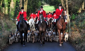 Foxhunting in Chiddingstone, Kent in 2016