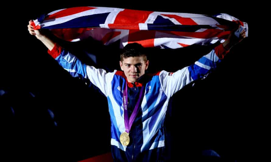 Luke Campbell, who gave Barry Glendenning a lesson on the heavy bag, with his gold medal at London 2012.