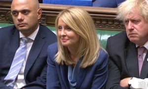 Esther McVey during Prime Minister's Questions .