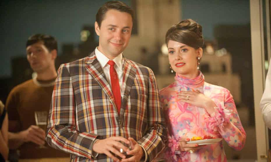 'I loved playing Trudy. She was such a badass': in Mad Men with Vincent Kartheiser as Pete Campbell.