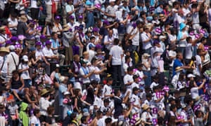 Some of the tens of thousands of fans who pack Koshien every day over two weeks in August to watch the tournament.