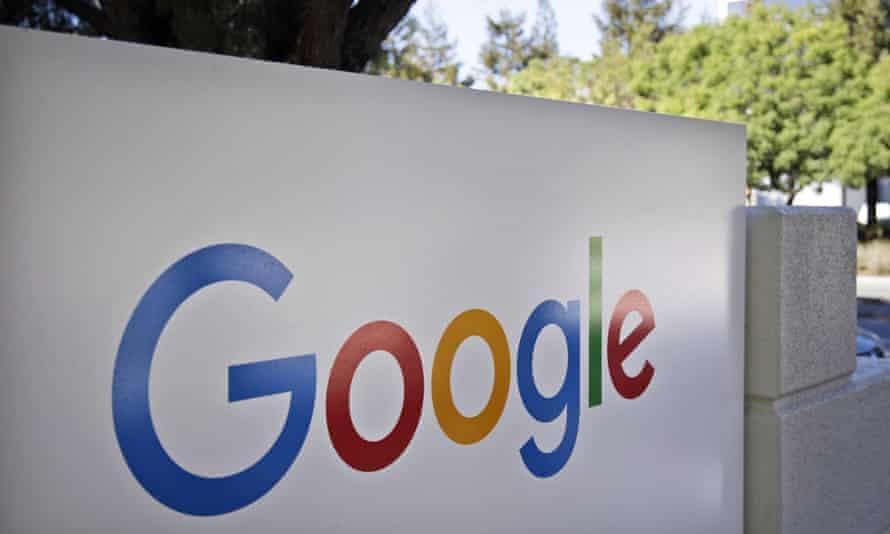 Google logo outside company headquarters in Mountain View, California.
